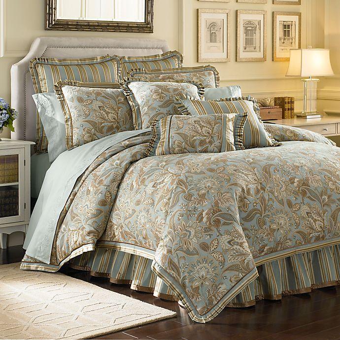 J Queen New York Valdosta Aqua Comforter Set Bed Bath