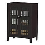 No Tools Glass Door Cabinet in Espresso
