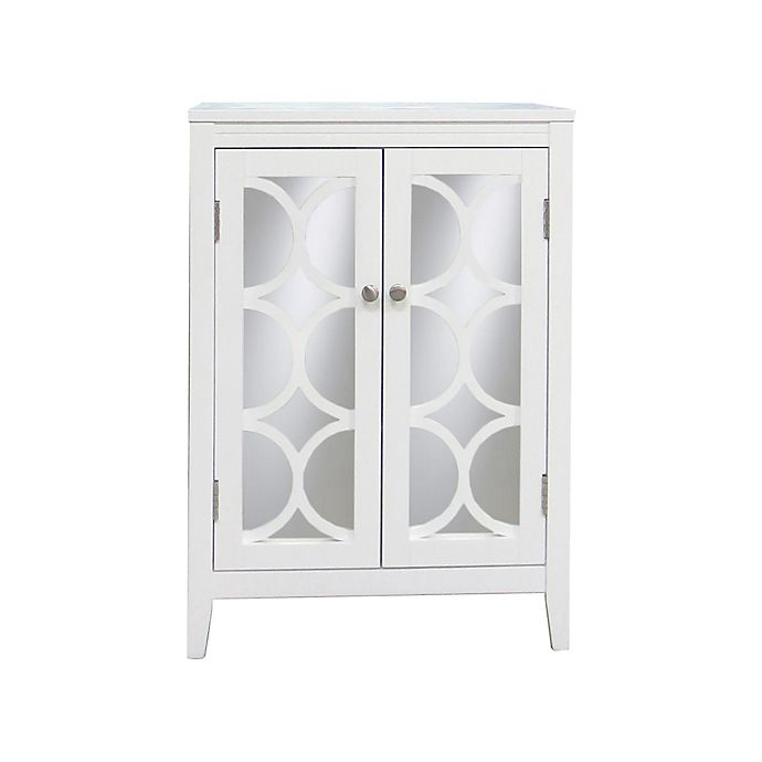 Alternate image 1 for No Tools Mirror Door Cabinet in White