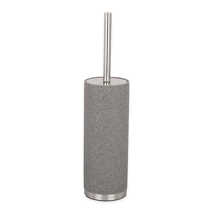 Alternate image 1 for DKNY Highline Toilet Brush with Holder in Grey/Brushed Nickel
