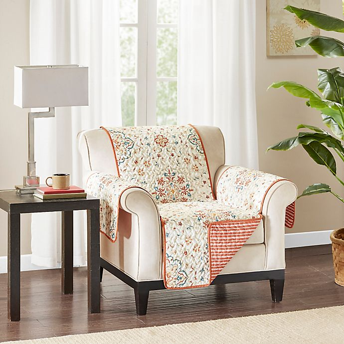 Pleasant Madison Park Tissa Reversible Arm Chair Protector Bed Bath Theyellowbook Wood Chair Design Ideas Theyellowbookinfo
