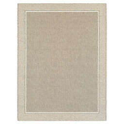 Miami Border 2'7 x 4'2 Indoor/Outdoor Accent Rug in Natural