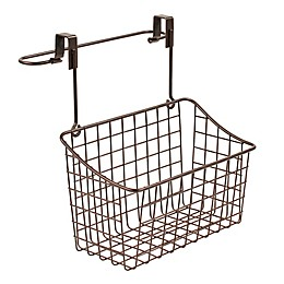 Spectrum Steel Grid Medium Over-the-Door Towel Bar/Basket