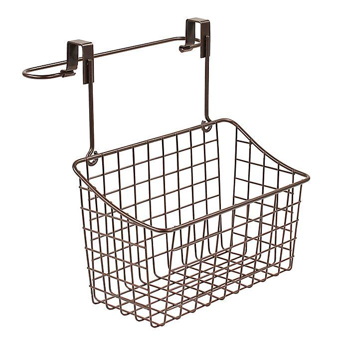 Alternate image 1 for Spectrum Steel Grid Over-the-Door Towel Bar/Basket