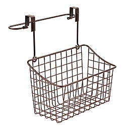 Spectrum Steel Grid Over-the-Door Towel Bar/Basket