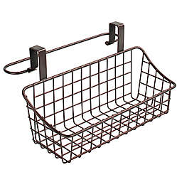 Spectrum Steel Grid Small Over-the-Door Towel Bar/Basket