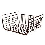 Spectrum Steel Ashley Small Over-the-Shelf Basket in Bronze