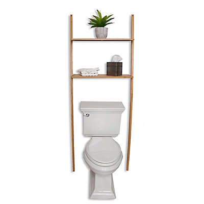Bamboo 2-Shelf Over the Toilet Space Saver