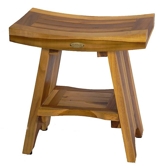 Buy Ecodecors Serenity 18 Inch Teak Shower Stool With