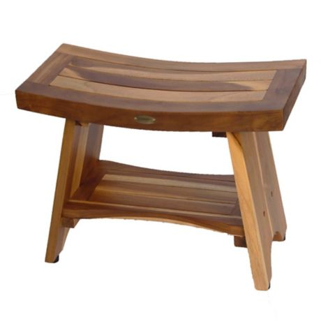 Buy Ecodecors Serenity 24 Inch Teak Shower Bench With
