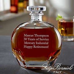 Luigi Bormioli Puccini Personalized Any Message Whiskey Decanter