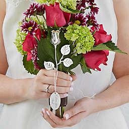 Wedding Memorial Engraved Silver Keepsake Rose