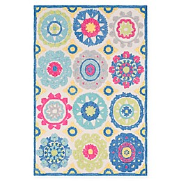 Surya Technicolor Global Rug in Aqua