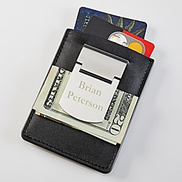 Zippo® Engraved Name Money Clip & Credit Card Case