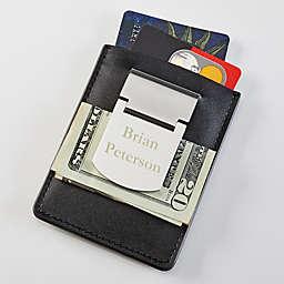 Zippo® Engraved Name Money Clip & Credit Card Case