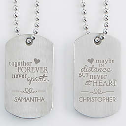 His & Hers Engraved Dog Tags (Set of 2)