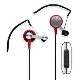 iHome Rubberized Metal Hook Ear Bud Headphones Model iB9R - Red