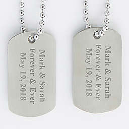 Engraved Dog Tags (Set of 2)