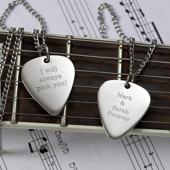 Alternate image 1 for Romantic Love Sterling Silver Guitar Pick Pendant