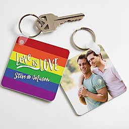 """""""Love Is Love"""" Photo Keychain"""