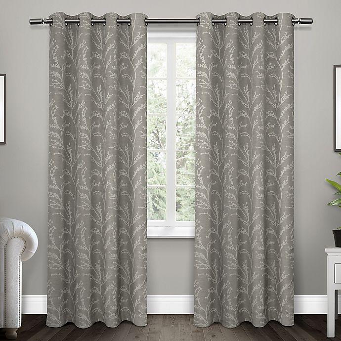 Alternate image 1 for Kilberry 2-Pack Grommet Top Room Darkening Window Curtain Panels