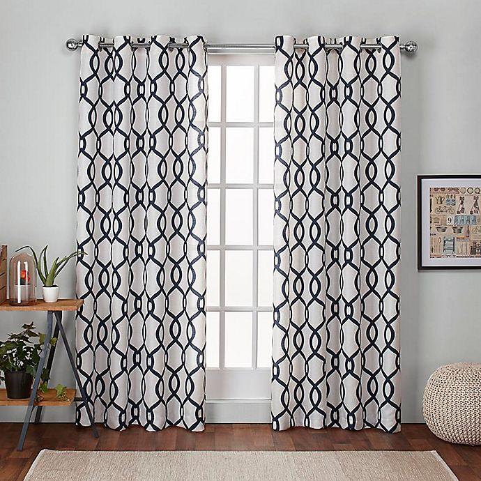 Alternate image 1 for Kochi 2-Pack Grommet Top Room Darkening Window Curtain