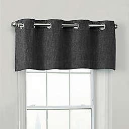 Quinn 100% Blackout Window Valance in Black