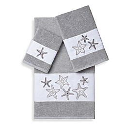 Linum Home Textiles LYDIA Embellished Bath Towels (Set of 3)