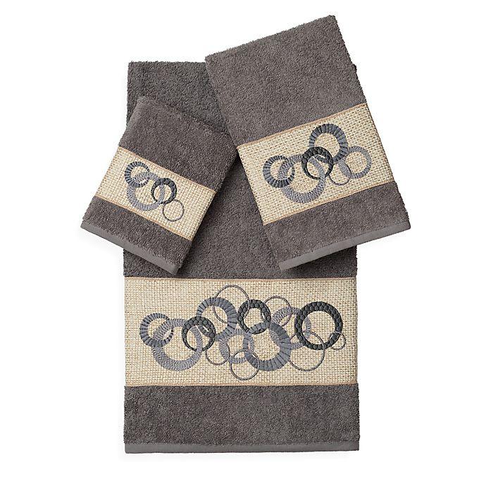 Alternate image 1 for Linum Home Textiles ANNABELLE Embellished Bath Towels (Set of 3)