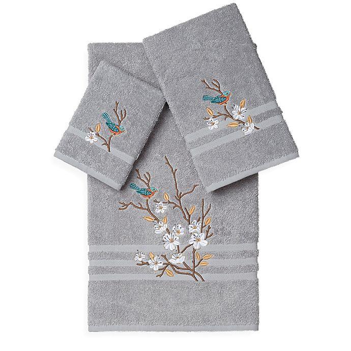 Alternate image 1 for Linum Home Textiles SPRING TIME Embellished Bath Towels (Set of 3)