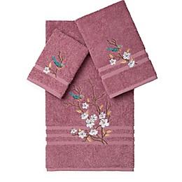 Linum Home Textiles SPRING TIME Embellished Bath Towels (Set of 3)