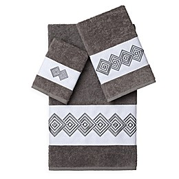 Linum Home Textiles NOAH Embellished Bath Towels (Set of 3)