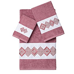 Linum Home Textiles NOAH Embellished Bath Towels (Set of 3)
