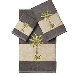 Linum Home Textiles COLTON Embellished Bath Towels (Set of 3)