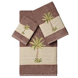 Linum Home Textiles COLTON Embellished Bath Towels (Set of 3)