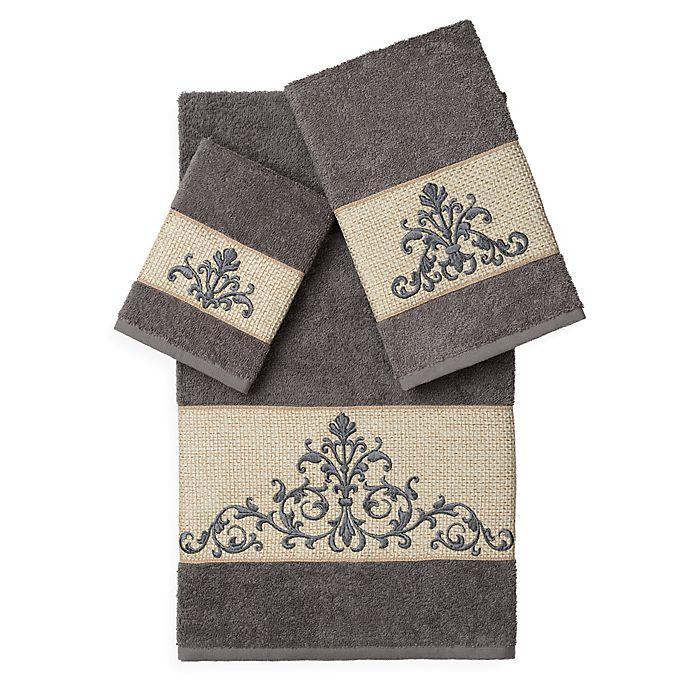 Alternate image 1 for Linum Home Textiles Scarlet Embellished Bath Towels (Set of 3)