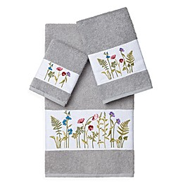 Linum Home Textiles SERENITY Embellished Bath Towels (Set of 3)