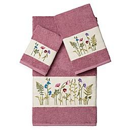 Linum Home Textiles SERENITY Embellished Bath Towels (Set of 3)