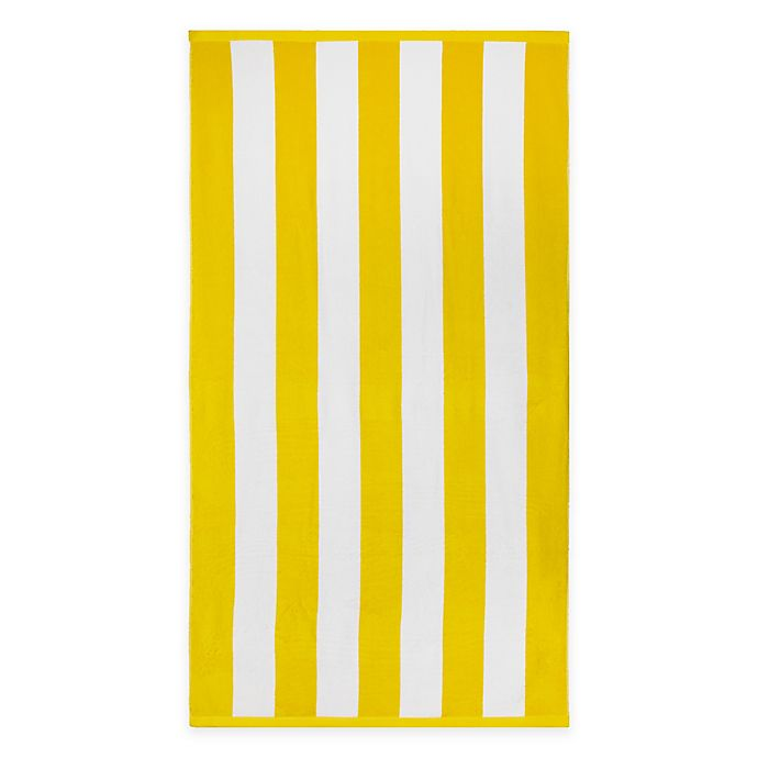 Alternate image 1 for Wamsutta® Yarn Dyed Stripe Luxury Beach Towel in Yellow