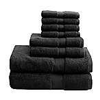 Madison Park Signature 8-Piece 800 GSM Cotton Towel Set in Black