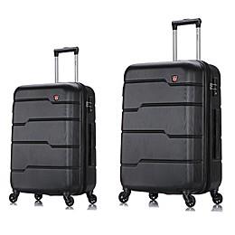 DUKAP® Rodez Hardside Spinner Checked Luggage