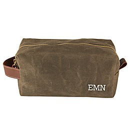Cathy's Concepts Waxed Canvas and Leather Dopp Kit