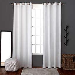 Loha 108-Inch Grommet Window Curtain Panels in White (Set of 2)