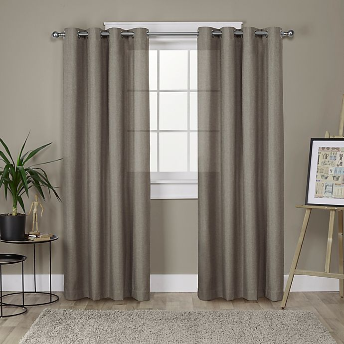 Alternate image 1 for Loha 2-Pack Grommet Top Window Curtain