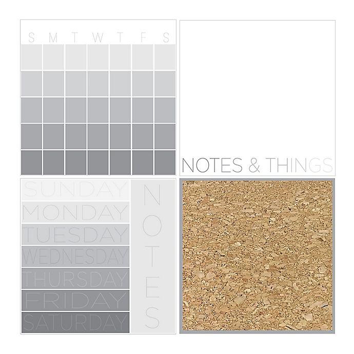 Alternate image 1 for 4-Piece Mondrian Organization Kit in Grey