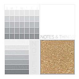 4-Piece Mondrian Organization Kit in Grey