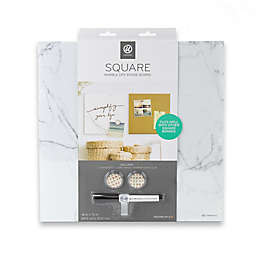 U BRANDS 14-Inch x 14-Inch Magnetic Dry Erase Board in Marble