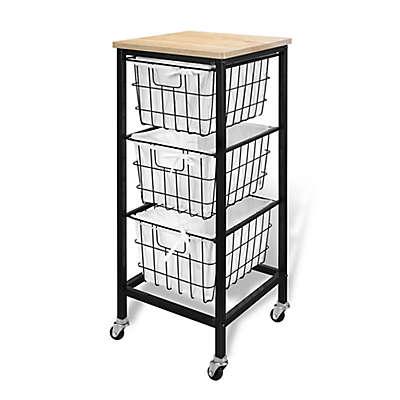Bintopia 3-Drawer Wire Storage Cart