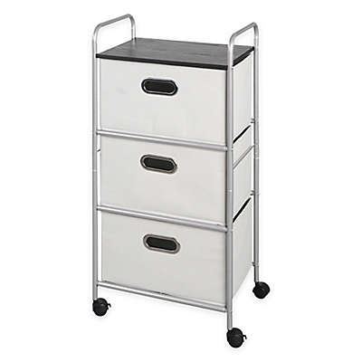 Bintopia 3-Drawer Storage Cart with Top