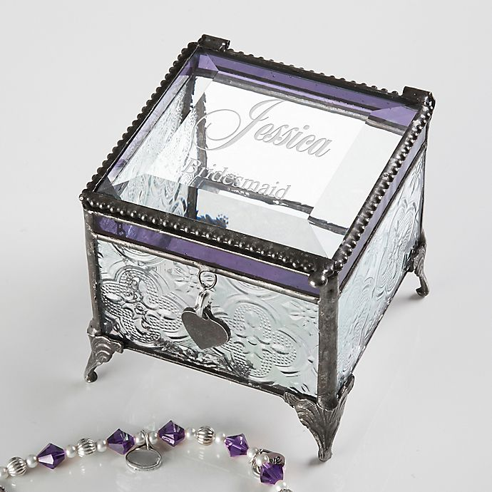 Alternate image 1 for Wedding Reflections Vintage  Clear Jewelry Box